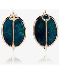 Bibi Van Der Velden - 18k Rose Gold, Opal And Tsavorite Planet Earrings - Lyst