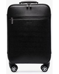 Canali Black Leather Holdall Suitcase