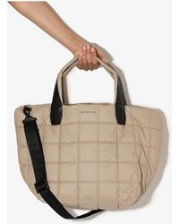 VeeCollective Neutral Porter Medium Quilted Tote Bag - Multicolor