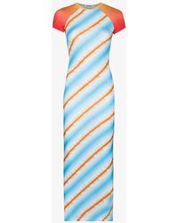 Maisie Wilen Slinky T-shirt Midi Dress - Blue