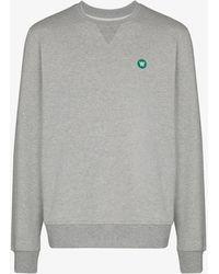 WOOD WOOD Tye Cotton Sweatshirt - Grey