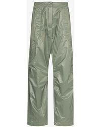 Paria Farzaneh Straight Leg Track Trousers - Green