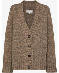 Maison Margiela Oversized Knit Cardigan - Brown