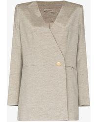 St. Agni Louis Cross Front Blazer - Grey
