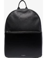 Maison Margiela Four-stitch Leather Backpack - Black