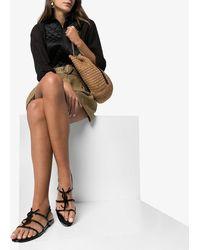 Saint Laurent Leather Cassandra Sandals