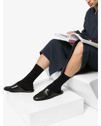 Santoni Leather Slippers - Black