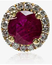 Rosa De La Cruz - Ruby White Diamond Single Stud Earring - Lyst