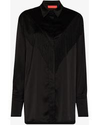 Commission Fringe Classic Long Sleeve Shirt - Black
