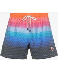 Missoni - Gradient Stripe Swim Shorts - Lyst