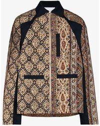 Paria Farzaneh Iranian Print Zip-up Jacket - Blue