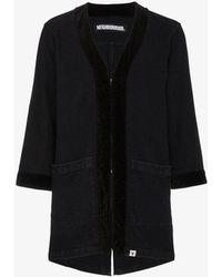 Neighborhood - Black Kimono Coat - Lyst