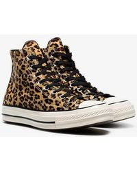 10118b1a97eed3 Converse X Leopard Print All Star Hightop Trainers in Black for Men ...
