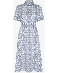 Evi Grintela Look 25 Printed Midi Dress - Blue