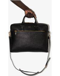 Tom Ford Slim Medium Leather Briefcase - Black