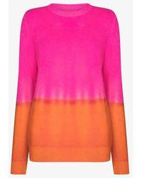 The Elder Statesman Gradient Simple Cashmere Jumper - Pink