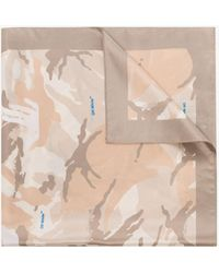 Off-White c/o Virgil Abloh X Browns 50 Neutral Camouflage Silk Scarf - Multicolour