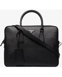 Prada Leather Briefcase - Black