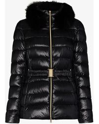 Herno Piumino Giacco Belted Down Puffer Jacket - Black