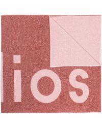 Acne Studios - Pink Toronto Logo Wool Blend Scarf - Lyst