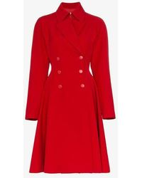 Breasted Double Lyst Princess Red Alaïa Coat xwHOAFBtq