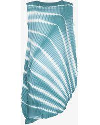 Issey Miyake Shibori Tie-dye Plissé Dress - Blue