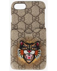 Gucci - Embroidered Angry Cat Iphone 6/7 Case - Lyst