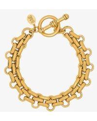 Brinker & Eliza Gold Tone End Game Bracelet - Metallic