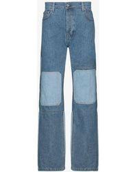 JW Anderson Patchwork-effect Jeans - Blue
