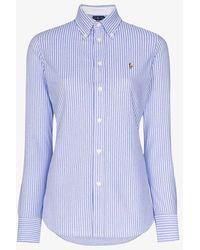 Polo Ralph Lauren Oxford Stripe Cotton Shirt - Blue