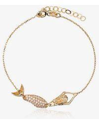Anton Heunis 18k Yellow Gold Mermaid Diamond Bracelet - Metallic