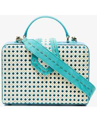 Mehry Mu - Blue Fey Suede And Bamboo Box Bag - Lyst