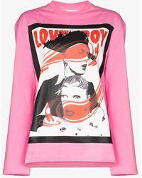 Charles Jeffrey LOVERBOY Portrait Print Sweatshirt - Pink
