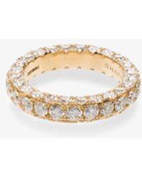 SHAY 18kt Yellow Gold White Diamond Eternity Ring