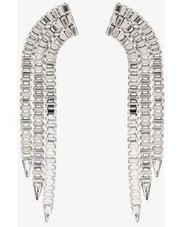 Gucci Tone Crystal Tassel Earrings - Metallic
