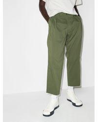 WTAPS Pintuck Straight Leg Trousers - Green