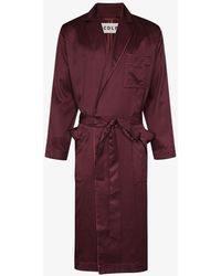 CDLP Home Robe Long Dressing Gown - Purple