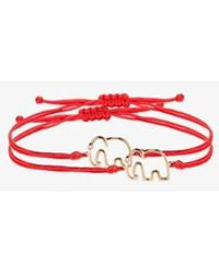 Yvonne Léon Red 9k Yellow Gold Elephant Bracelet