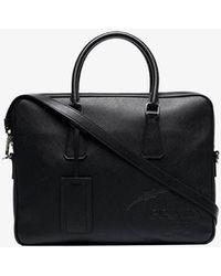 Prada - Black Saffiano Leather Briefcase - Lyst