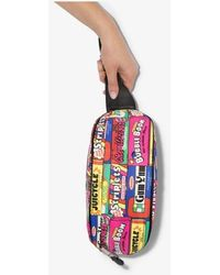 Moschino Multicoloured Patchwork Logos Belt Bag - Pink