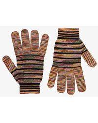 Missoni Multicoloured Crochet Knit Gloves - Black