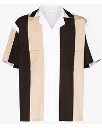 Lou Dalton White Short Sleeve Striped Shirt