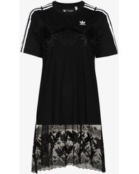 adidas X Dry Clean Only Embroidered T-shirt Dress - Black
