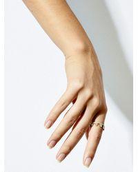 Jade Trau 18k Yellow Hanging Kismet Diamond Ring - Metallic