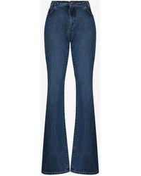 Raf Simons Flared High Waist Jeans - Blue