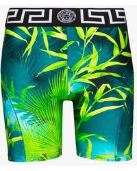 Versace Jungle Print Cycling Shorts - Green