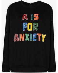 Ashish Beaded Graphic Sweatshirt - Black