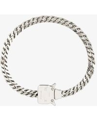 1017 ALYX 9SM Silver Tone Cubix Chain Necklace - Metallic