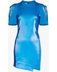 Zilver Cyber Mini Dress - Blue