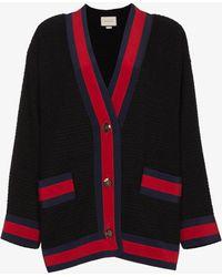 Gucci - Tweed Contrast Stripe Cardigan - Lyst